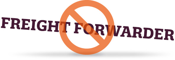 No freight forwarders